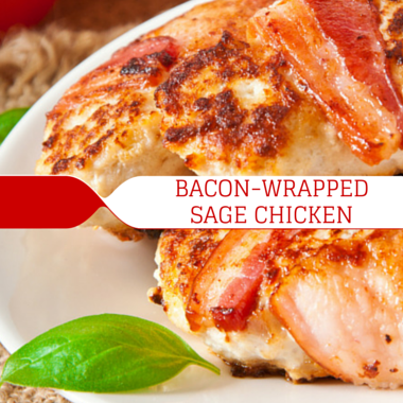 Rachael: Bacon-Wrapped Chicken with Herbs Recipe & Cheesy Cauliflower