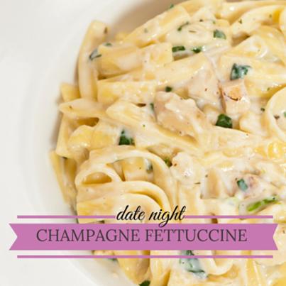 Rachael Ray's Fettuccine with Champagne Cream Sauce Recipe
