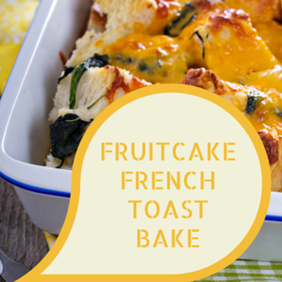 Rachael: Fruit Cake French Toast Bake Recipe with Eggnog Whipped Cream