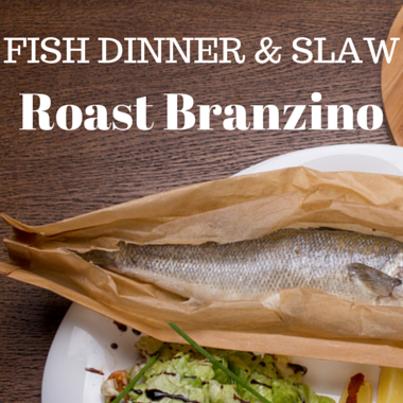 Rachael Ray: Roast Branzino Recipe with Fennel-Celery Slaw Topping