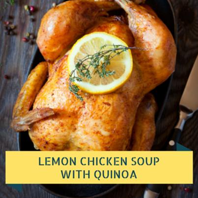 Rachael Ray: Kelsey Nixon Lemon Chicken Quinoa Soup Recipe