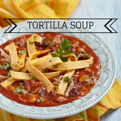The Chew: Michael Symon Tortilla Soup with Shredded Chicken Recipe