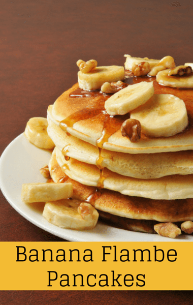 The Chew: Mario Batali's Banana Flambe Brown Sugar Pancakes Recipe