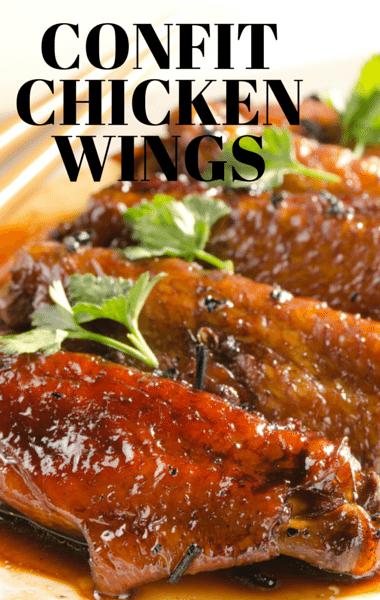 Confit Chicken Wings Recipe + Green Harissa and Lemon Curd Yogurt Dip