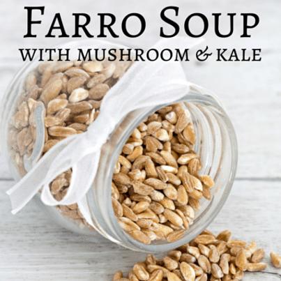 Rachael Ray & Bob Harper: Mushroom-Farro Soup with Kale Recipe