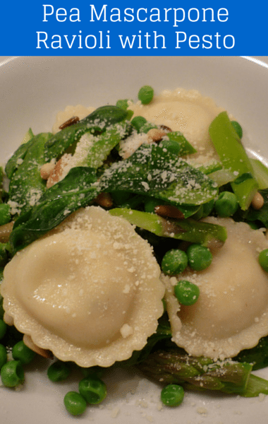 The Chew: Mario Batali Pea Mascarpone Ravioli with Pesto ...