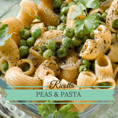 Rachael Ray: Pasta with Ricotta and Peas Recipe