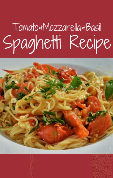 The Chew Spaghetti With Fresh Tomatoes Mozzarella And Basil Recipe