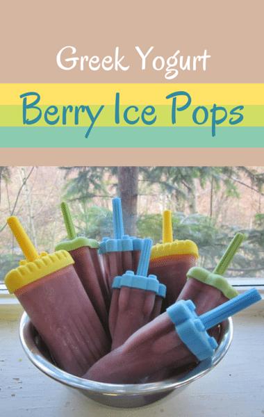 Yogurt Ice Pops With Berries Recipe — Dishmaps
