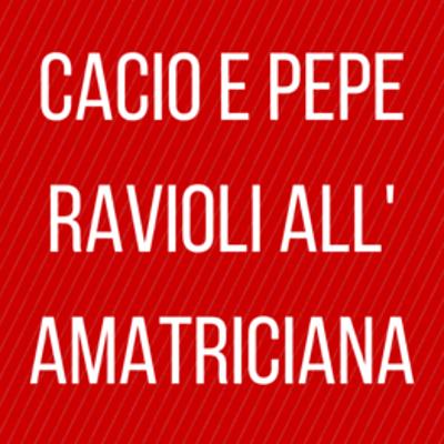 The Chew: Cacio E Pepe Ravioli All' Amatriciana Recipe