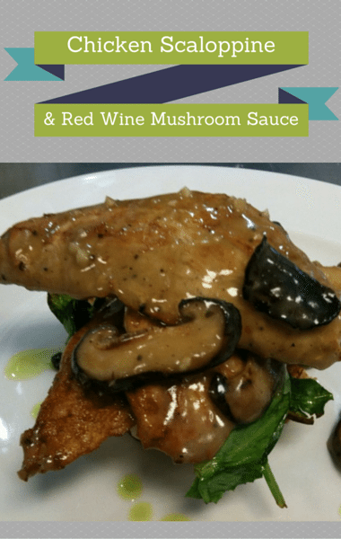 The Chew: Chicken Scaloppine + Red Wine Mushroom Sauce
