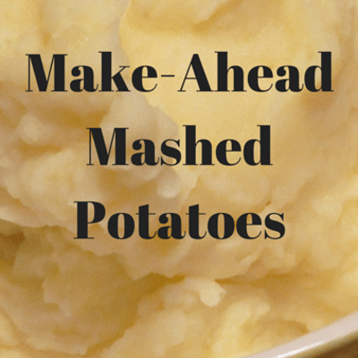 The Chew: Make-Ahead Mashed Potatoes Recipe