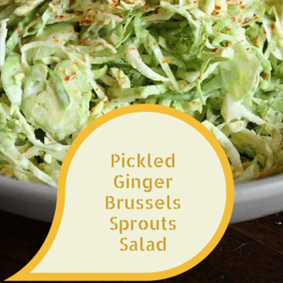 The Chew: Pickled Ginger Brussels Sprouts Salad