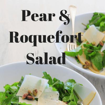 Rachael Ray: Pear & Roquefort Salad & Vinaigrette Recipe