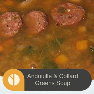 The Chew: Andouille & Collard Greens Soup Recipe