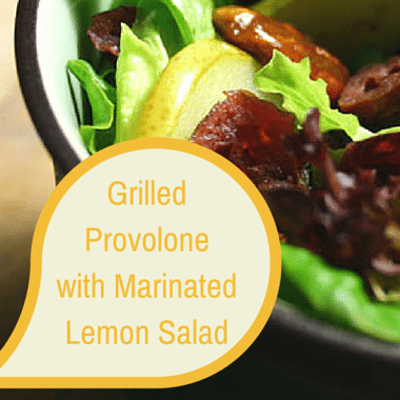 The Chew: Grilled Provolone With Marinated Lemon Salad