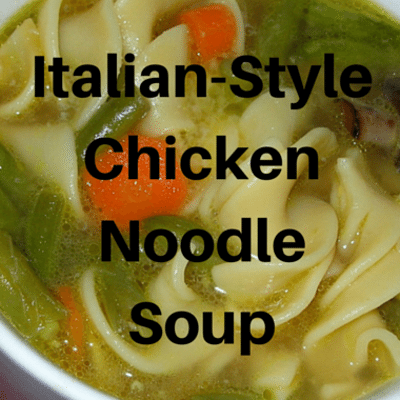 Rachael Ray: Italian Chicken Noodle Soup With Green Beans