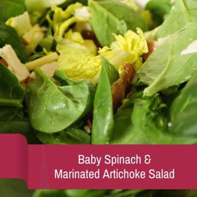 Rachael Ray: Baby Spinach & Marinated Artichoke Salad