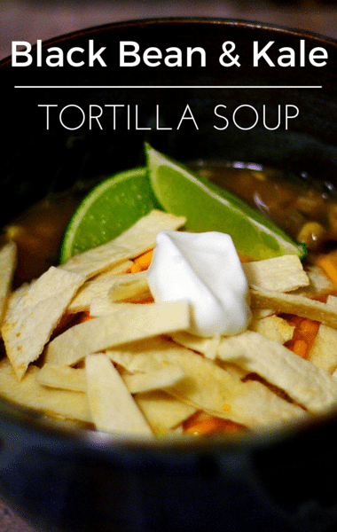 Rachael Ray: Black Bean & Kale Tortilla Soup Recipe
