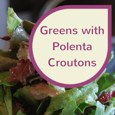 The Chew: Greens With Polenta Croutons Recipe