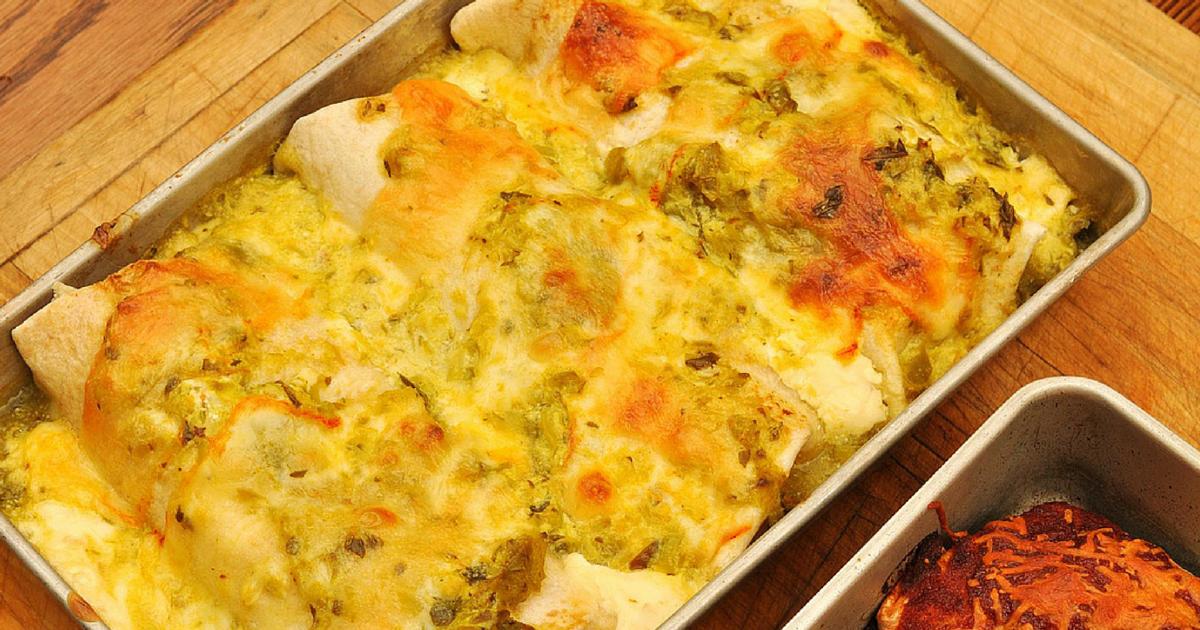 Rachael Ray: Rotisserie Chicken Enchiladas Verdes