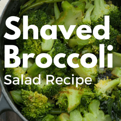 Rachael Ray: Graham Elliot Shaved Broccoli Salad
