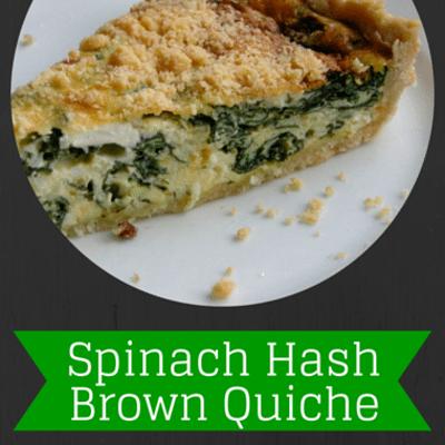 The Chew: Spinach Hash Brown Quiche Recipe