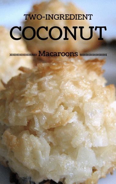 Rachael Ray: 2-Ingredient Desserts + Coconut Macaroons