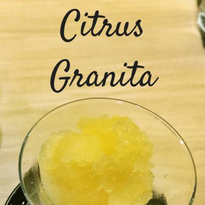 The Chew: Citrus Granita Recipe