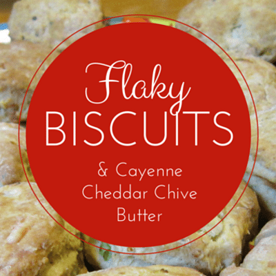 The Chew: Flaky Biscuits With Cayenne Cheddar Chive Butter