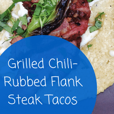 Grilled Chili-Rubbed Flank Steak Tacos Recipe Rachael Ray ...