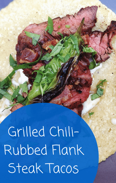 Rachael Ray: Curtis Stone Grilled Chili-Rubbed Flank Steak Tacos