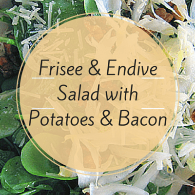 The Chew: Frisee & Endive Salad With Potatoes & Bacon