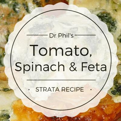 Rachael Ray: Dr Phil Tomato, Spinach, & Feta Strata Recipe