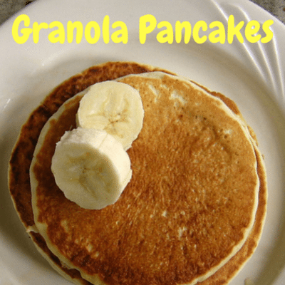 The Chew: Granola Pancakes With Caramelized Banana Syrup