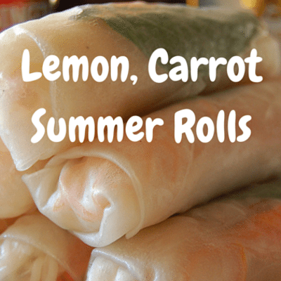 The Chew: Lemon Carrot Summer Rolls Recipe