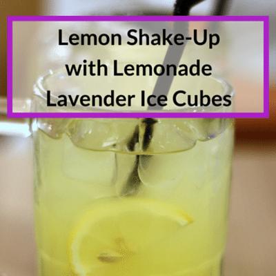 Rachael Ray: Lemon Shake-Up With Lemonade Lavender Ice Cubes