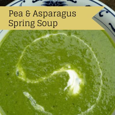Rachael Ray: Asparagus & Pea Spring Soup + Grilled Ham 'N Cheese