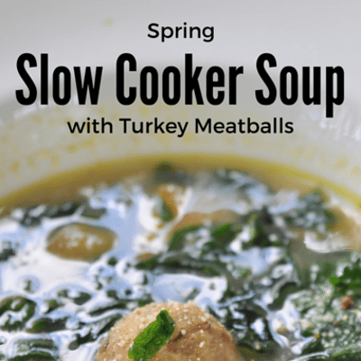 The Chew: Spring Slow Cooker Soup With Turkey Meatballs
