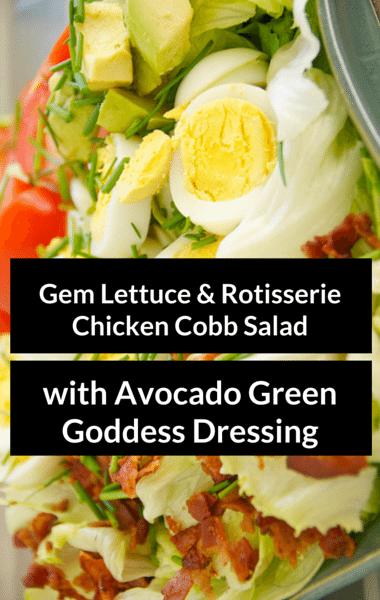 Rachael Ray: Gem Lettuce & Chicken Cobb Salad + Avocado Dressing