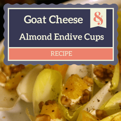 The Chew: Goat Cheese & Almond Endive Cups Recipe