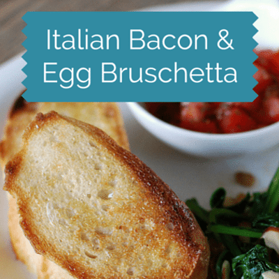 The Chew: Italian Bacon & Egg Bruschetta Recipe