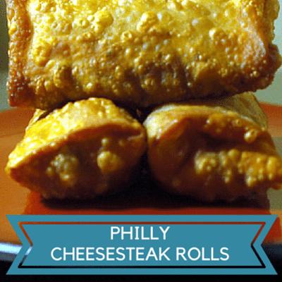 Rachael Ray: Tina Wu Philly Cheesesteak Rolls Recipe