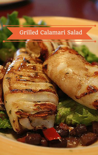 The Chew: Grilled Calamari Salad + Chickpeas, Olives & Salami