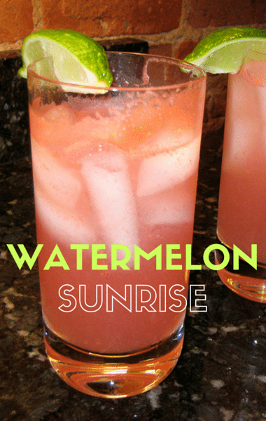 how to make sunrise cocktail