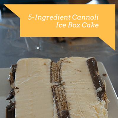 Rachael Ray: 5-Ingredient Cannoli Ice Box Cake Recipe