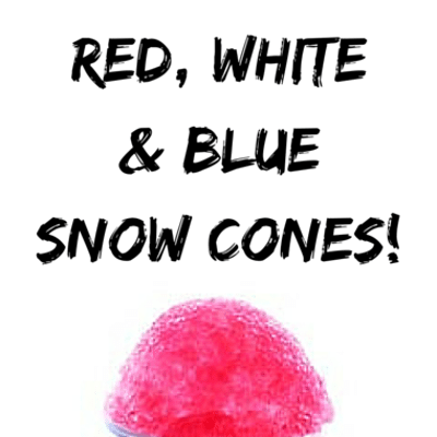 Rachael Ray: Clinton Kelly Red, White & Blue Snow Cones Recipe