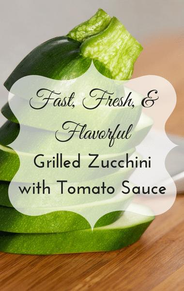 The Chew: Grilled Zucchini + Fresh Tomato Sauce Recipe