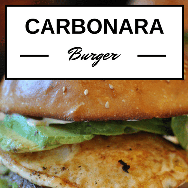 Rachael Ray: Carbonara Burgers Recipe
