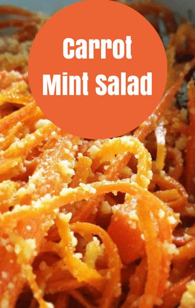 The Chew: Carrot Mint Salad Recipe